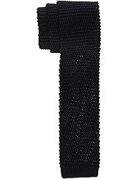 Strellson Premium Herren Krawatte 11 Tie_Knit1 10004201, Schwarz (Black 001), 6 (Herstellergröße: One)