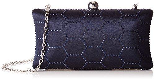 Bulaggi Damen Molijn Clutch, 09x04x19 cm Blau (Dunkel Blau)