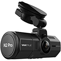 """Vantrue N2 Pro Dual Dash Cam Dual 1920x1080P Front and Rear Dashcam (2.5K 1440P Single Front Recording) 1.5"""" LCD 310° Dashboard Cameras for Cars w/Infrared Night Vision, Sony Sensor, Parking Mode, Optional GPS Function, Motion Detection, Loop Recording & G-Sensor, Audio Recording, Support 256GB Max"""