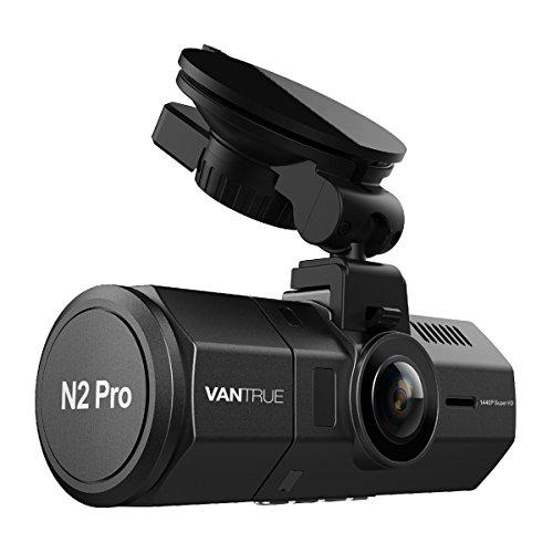 """VANTRUE N2 Pro Dual Dashcam Infrarot Nachtsicht Autokamera Vorne Hinten, Dual Full HD 1080P Dash Cam (2560x 1440P vorne) 310° 1.5"""" Sony Sensor Auto Kamera G Sensor, Dual Parkmodus, Unterstützt 256GB"""