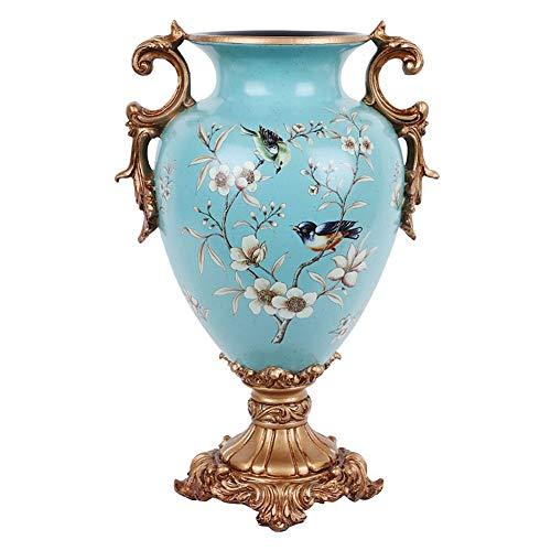 ZFF Harz Groß Vasen Europäisch Pastoral Land Dekoration Kunst Zuhause Wohnzimmer Veranda Tabelle Mittelstücke Vase, Weihnachten Hochzeit Geschenk
