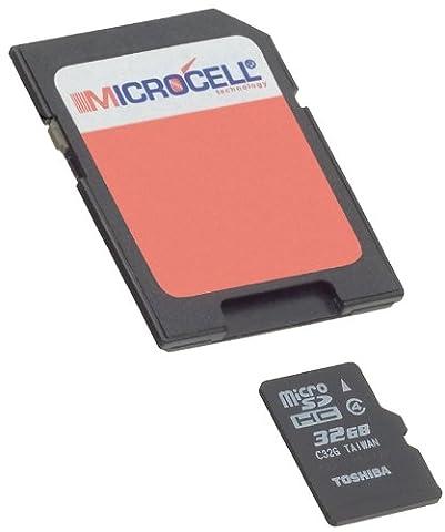 Yayago Microcell Carte MicroSD de 32GB avec Adaptateur SD pour Samsung Galaxy J3 (2016)