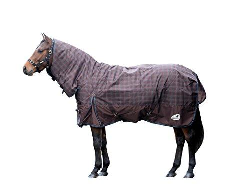 Masta Zing 200 Pferdedecke mit festem Halsteil Braun schokoladenbraun 171 cm