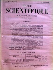 REVUE SCIENTIFIQUE du 13-07-1907 NOTES ET RENSEIGN...