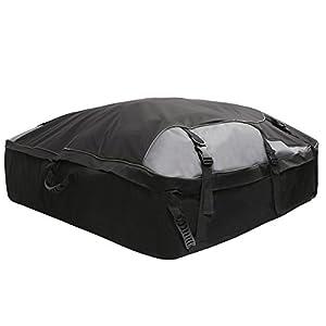 Koolertron sac 450L port bagages imperméable pliable pour toit de voiture