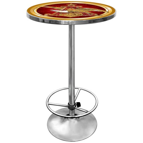 anheuser-busch-chrome-pub-table
