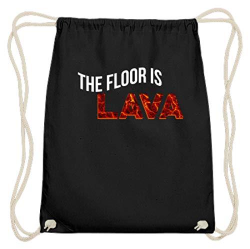 The Floor Is Lava - Der Boden Ist Aus Lava - Kinder, Kinderspiel, Erwachsene - Lustiges - Baumwoll Gymsac