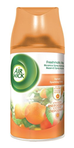 Air Wick Fresh Matic Ricarica Spray Automatico, Agrumi - 2 bombolette