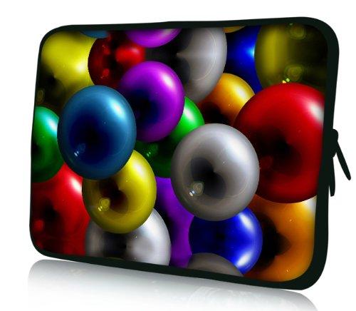 Luxburg® Design Laptoptasche Notebooktasche Sleeve für 17,3 Zoll, Motiv: Strümpfe 3D Kugeln