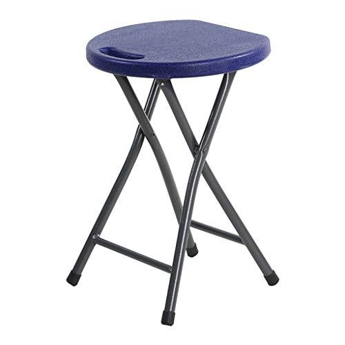 IOFESINK HOME Klappstuhl, Haushaltswaren Naturkautschukholz rund kompakt, Kunststoff-Hochstuhl, tragbarer Außenstuhl, 46 x 33 cm (Color : B) - Runde Holz-finish Stuhl