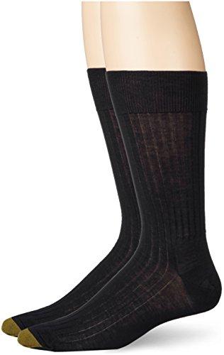 Gold Toe Bequeme Top-Dress-Socken für Männer (2-Pack) 10,5-11 Schwarz - Toe Gold Herren-baumwoll-socken