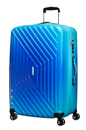 American Tourister - Air Force 1 Spinner 76/29 Espandibile 96.5/111L - 4.1 KG, Blu (Gradient Blue)