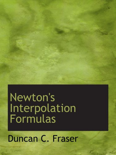 Newton's Interpolation Formulas