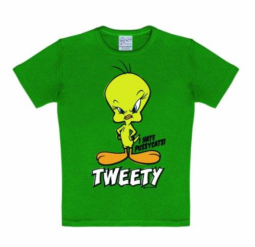 Logoshirt Jungen, T-Shirt, Looney Tunes Tweety, GR. 98 (Herstellergröße: 2-3 years), Grün (Toons Kostüme Looney)