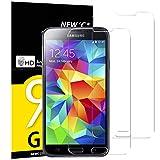 NEW'C Lot de 2, Verre Trempé pour Samsung Galaxy S5 Mini Film Protection écran - Anti Rayures - sans Bulles d'air -Ultra Résistant (0,33mm HD Ultra Transparent) Dureté 9H Glass