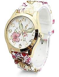 f8701c98a4c3 TrifyCore Reloj de Pulsera para Mujer Que Diseño de Flores de Silicona  Causal de Pulsera de