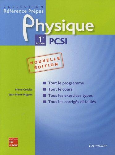 Physique 1re année PCSI