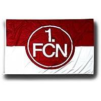 Flaggenfritze Hissflagge 1. FC Nürnberg Logo rot-weiß - 100 x 150 cm + gratis Aufkleber