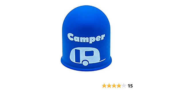 Schutzkappe Anhängerkupplung Blickfang Campingplatz Wohnwagen Caravan Blau Auto