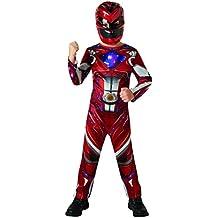 Red Ranger - Power Rangers Película - Disfraces para niños - Medium - 116cm - Edad 5-6