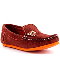 Willy Winkies - Brown Color Genuine Leather Shoes-116 - 24