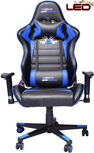 Racing-spiel Stuhl (Turismo Racing Stuhl-Videospielserie 2020 LED mit Dual-Memory-Schaumsystem für optimalen Komfort bei Spielen)