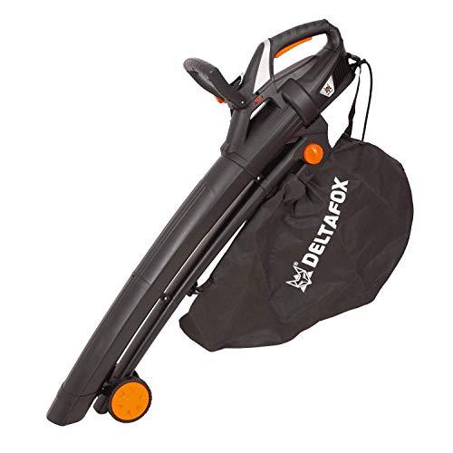 DELTAFOX Elektro Laubbläser Laubsauger - 3000 W - inkl. 40ltr Fangsack - Tragegurt - Blasgeschwindigkeit bis 270 km/h - hohe Saugleistung - leaf blower - garden vacuum
