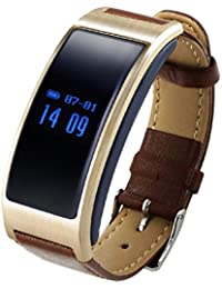 ONEMORES(TM) Smart Bracelet Pedometer Wristband Bluetooth Watch Activity Fitness Tracker (Brown)
