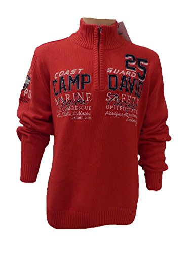 CAMP DAVID PULLOVER ESPECIALLY FOR MEN 2015 ROYAL RED M/L