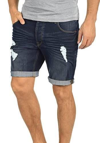 !Solid Toy Herren Jeans Shorts Kurze Denim Hose mit Destroyed-Optik aus Stretch-Material Slim Fit, Größe:XL, Farbe:Dark Blue (9620)