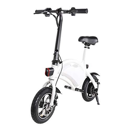 """Windgoo Bicicleta eléctrica Plegable Ruedas de 12"""",Batería de Litio de 4400-36v,Ebike para Adulto (White)"""