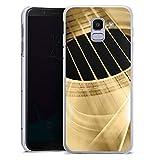 DeinDesign Samsung Galaxy J6 2018 Hülle Case Handyhülle Gitarre Instrument Saiten
