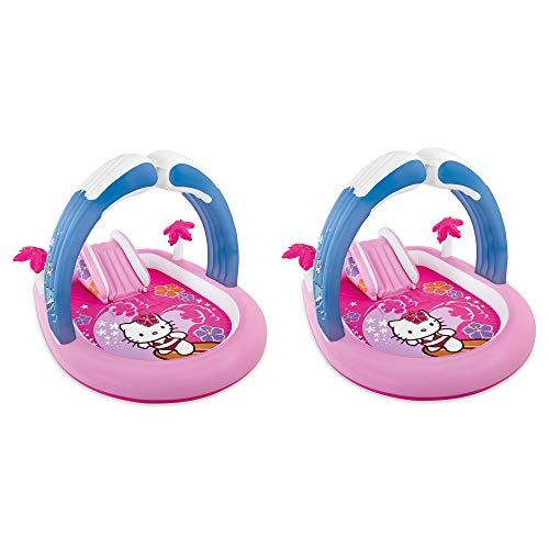 Intex Hello Kitty Play Center Inflatable Kids Set & Swimming Pool   57137EP (2 Pack) - Hello Kitty Pool