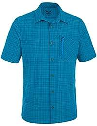 Salewa Isortoq 2.0 Dry M S/S Srt Camisa, Hombre, Azul (M Talut Reef), 48/M