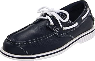 Rockport Men's Seacost Drive 2 Eye Boat Navy Leather Boat Shoe K62129  6.5 UK , 40 EU , 7 US