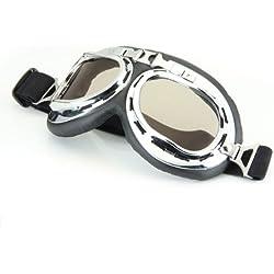 Gafas Lente Lens Tipo Aviador contra Viento para Moto Harley Vintage