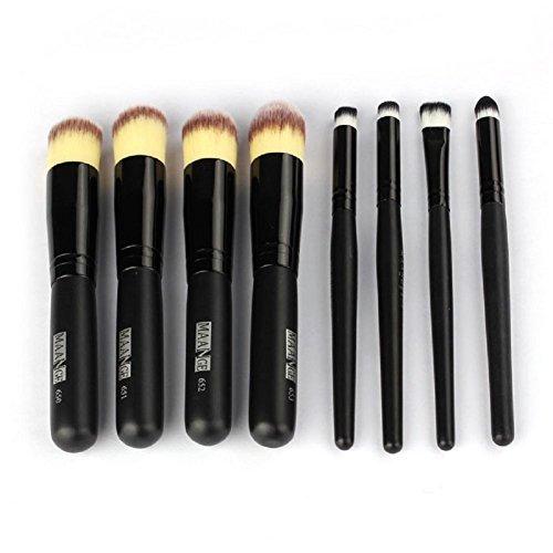 FEITONG Mode féminine nécessaire 8PCS Maquillage Kit Fondation Nez Cosmétique Pinceaux Face Eyeshadow (Noir)