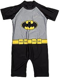 Niños Oficial Batman Protección del sol Todo en uno Traje De Baño tallas desde 1.5 a 5 Años