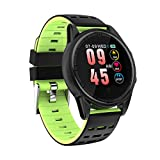 LCLrute Bluetooth Smart Watch Phone Touchscreen Armbanduhr Handy-Uhr Sport Smartwatch Uhr Wasserdicht Fitness Intelligente Smart Uhr Armbanduhr IP67 Tracker Blutdruck Pulsmesser (Grün)