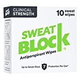 SweatBlock Antiperspirant - Clinical Strength Hyperhidrosis Antiperspirant - Reduce Underarm Sweat Up To 7-days per Use - Prescription Strength Sweat Wipe to Stop Excessive Sweating