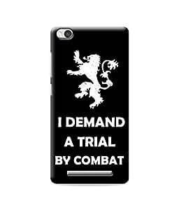 Be Awara I Demand A Trial Designer Mobile Phone Case Back Cover For Xiaomi Redmi 3