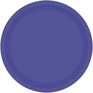 Amscan Internacionales Placas 17.7cm (púrpura)