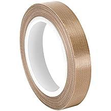 "tapecase 0.875–36-sg05–03Marrón fibra de vidrio/PTFE Cinta de tela impregnada, -100a 500grados F Rango de temperatura, Ancho de 36Yd. Longitud, 0,875"""