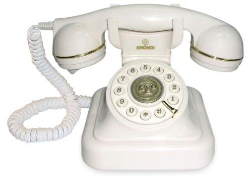 Brondi Vintage 20 - Teléfono fijo digital, blanco