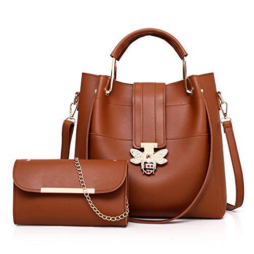 GSYDDJB Einkaufstasche, Schultertasche, diagonal, tragbar, braun