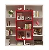 HOMIDEA Venus Libreria - Scaffale per Libri - Scaffale per Ufficio/Soggiorno dal Design Moderno (Bianco/Rosso)