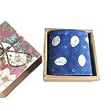 Chinashow Womens/Girls Vintage Floral Print Baumwolle Taschentücher Floral Taschentuch mit Geschenkbox A22