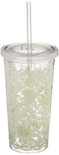 kate spade new york Tumbler with Straw, Daisy Lace Daisy Tumbler