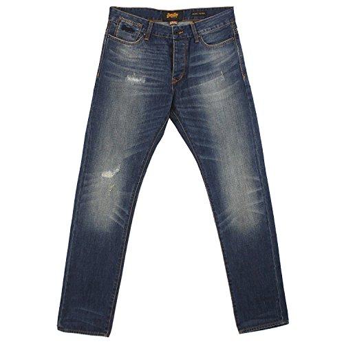 Superdry Biker Loose Taper, Herren Jeans Hose, Denim, dirty repair blue, W 30 L 32 [19260] (Loose Taper)