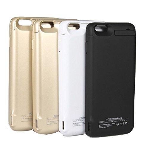 Batterie Coque iPhone 6 Plus Cover, Forhouse Battery Externe Rechargeable Case Coque 8200 mAh Li-polymer Power Bank Portable Chargeur avec Kickstand Support Batterie Pack Etui Housse Antichoc Smart Ch Blanc
